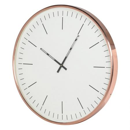 Large Contemporary Round Copper Wall Clock
