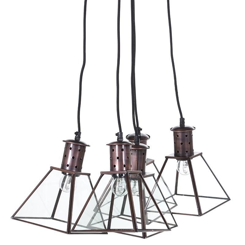 Clustered Metal Lantern Pendant Light