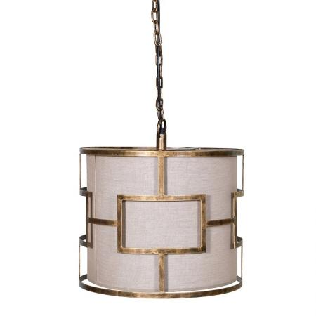Geometric Gold Pattern Hanging Pendant Light