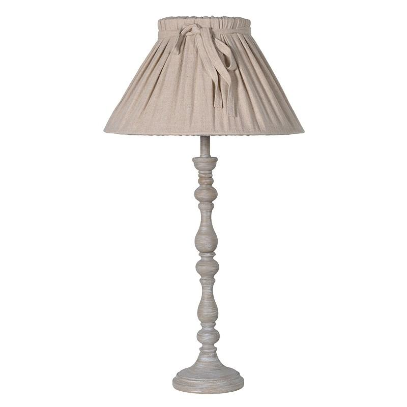 Tall cream wood table lamp with bow shade mulberry moon tall cream wood table lamp with bow shade aloadofball Images