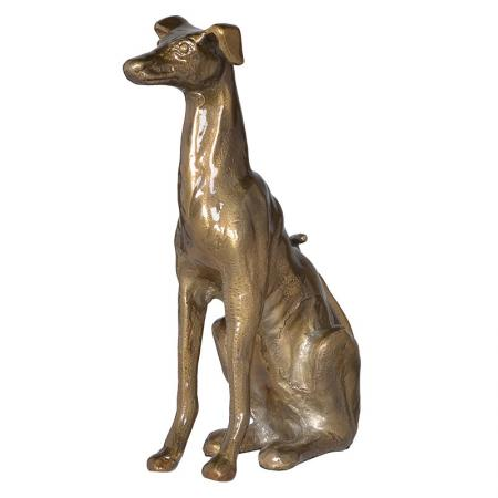 Bronzed Style Greyhound Dog Sculpture