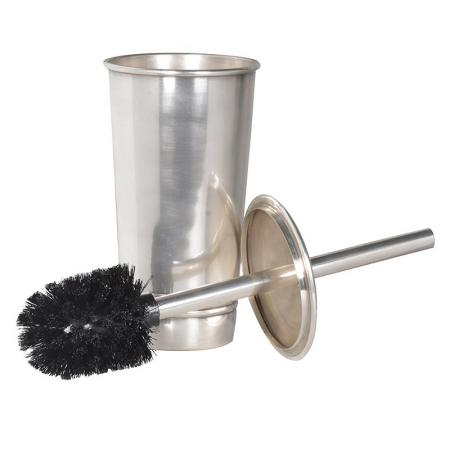 Contemporary Brass/ Silvered Toilet Brush Holder