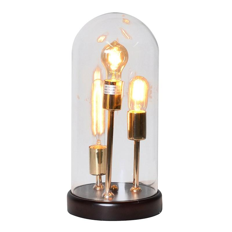 Large Gold Bulb U0026 Glass Dome Table Lamp