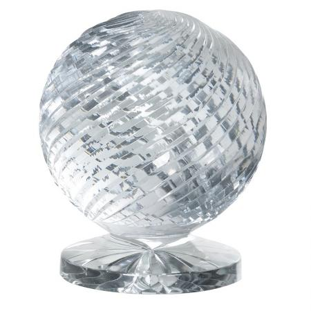 Round Crystal Trophy Sculpture on Base