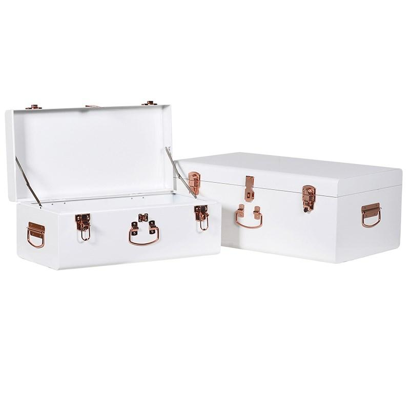 White Storage Trunks