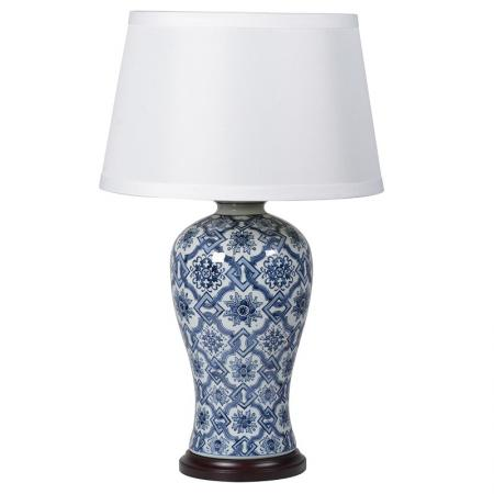 Blue & Blue Ceramic Base Table Lamp