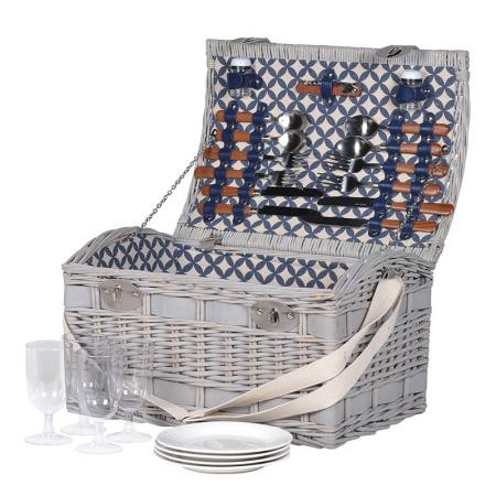 Domed Wicker Picnic Hamper 4 Servings