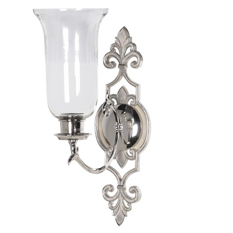 Silver Ornate Wall Sconce/ Candle Holder Mulberry Moon