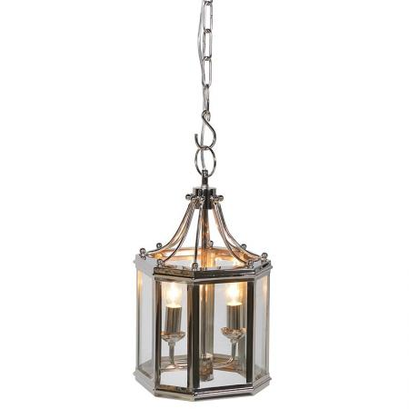 Small Chrome Downtown Electric Chandelier Light