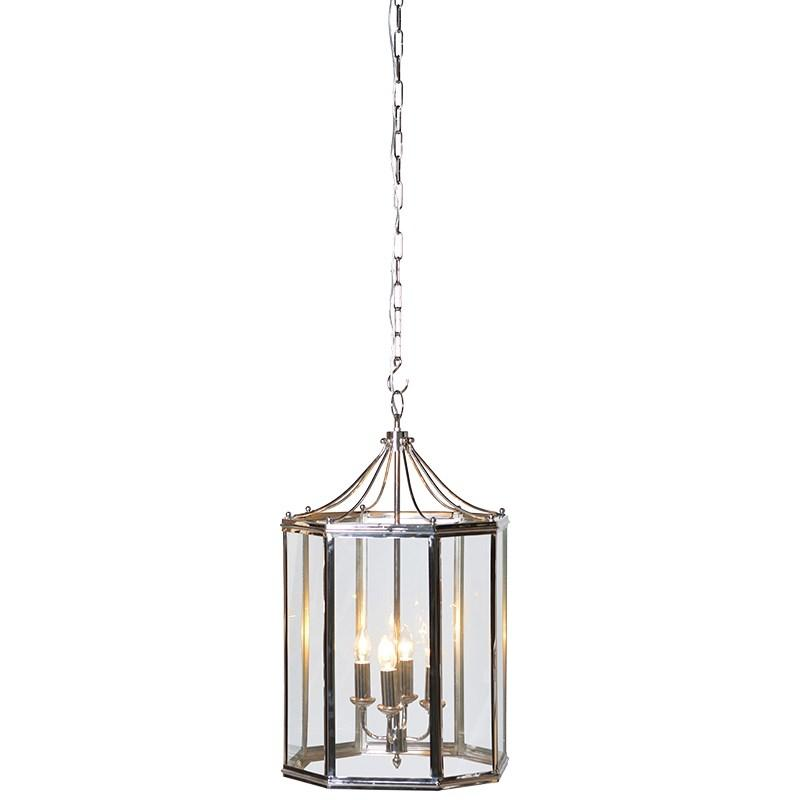 Large Chrome Downtown Electric Chandelier Light