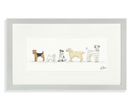 Wags and Bows Framed Dog Picture