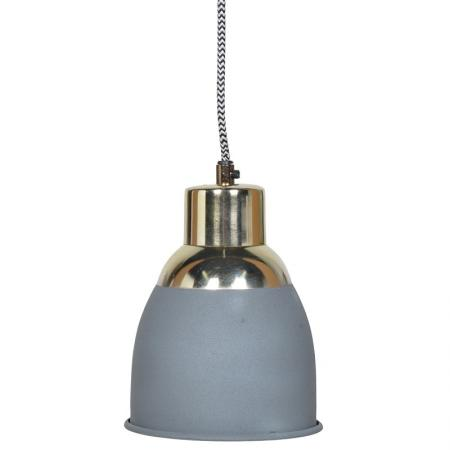 Grey & Gold Hanging Pendant Light