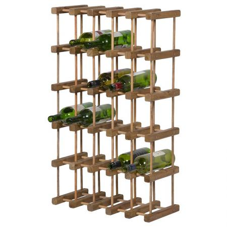 25 Bottle Wooden Wine Rack