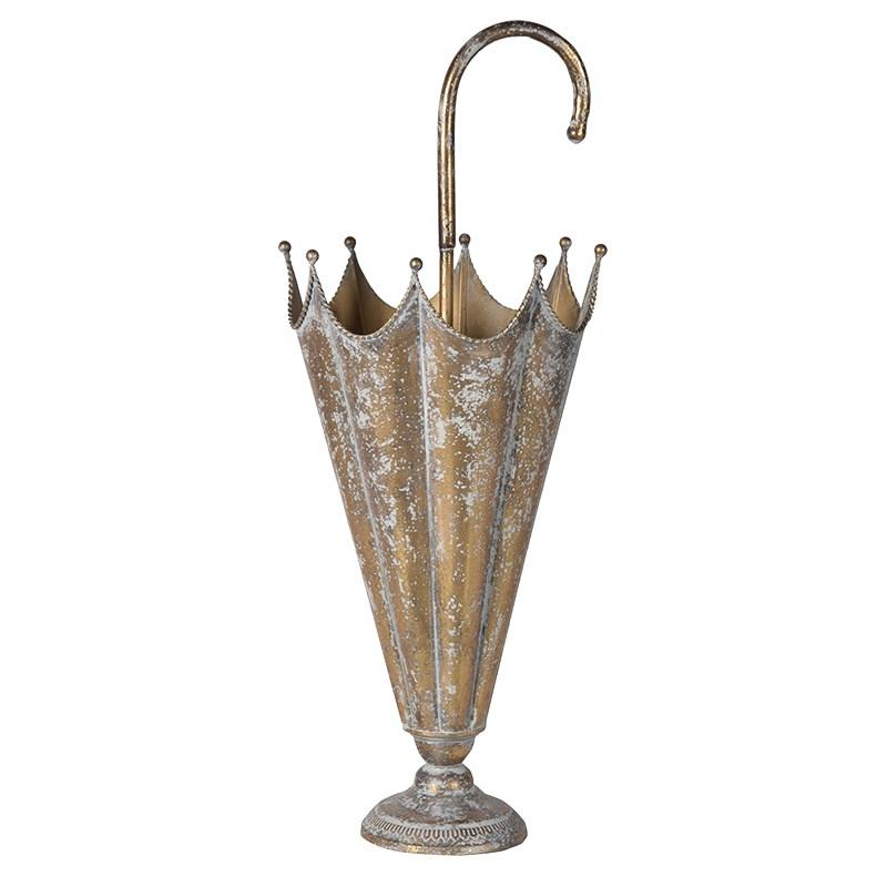 Antique Gold Effect Umbrella Stand Mulberry Moon