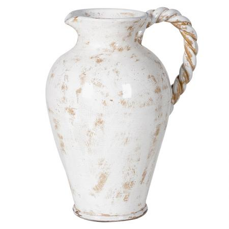 Ceramic Distressed Vase With Rope Handle