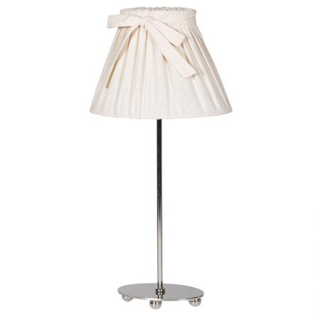 Chrome Table Lamp With Oval Bow Shade