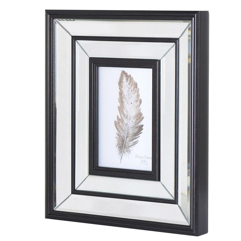 Large mirrored photo frame