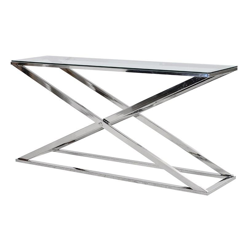 Terano Steel X-Frame Console Table