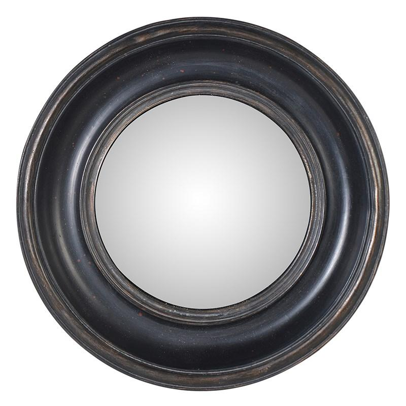 Small black round wall mirror mulberry moon for Round black wall mirror