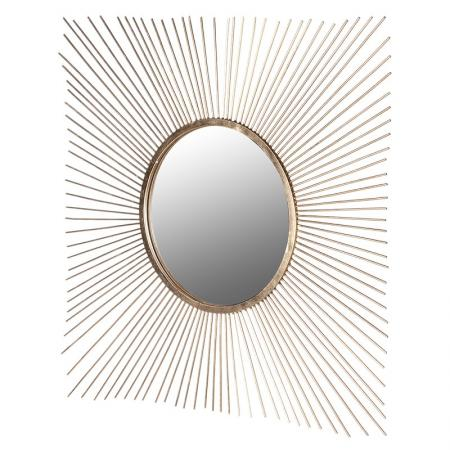 Large Gold Metal Spike Wall Mirror