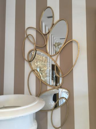 Large Gold Multi Circles Wall Mirror