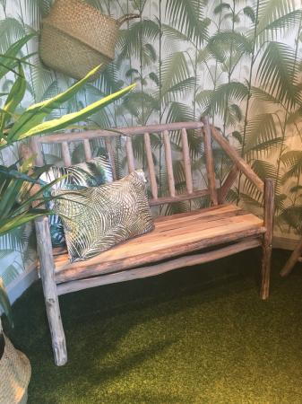 Small Rustic Wood Garden Bench