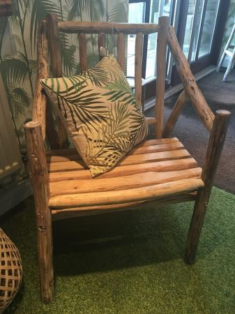 Rustic Wood Garden Arm Chair
