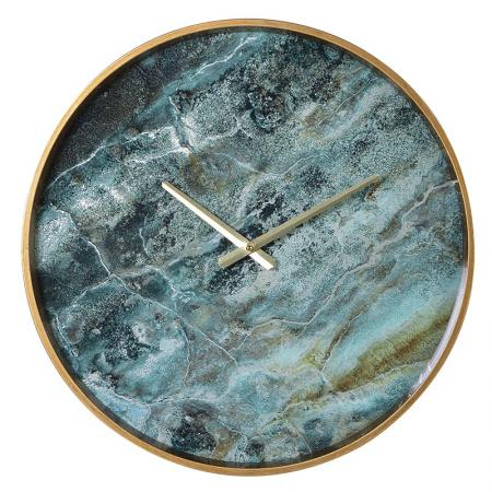 Amadeus Green Marble Effect Wall Clock