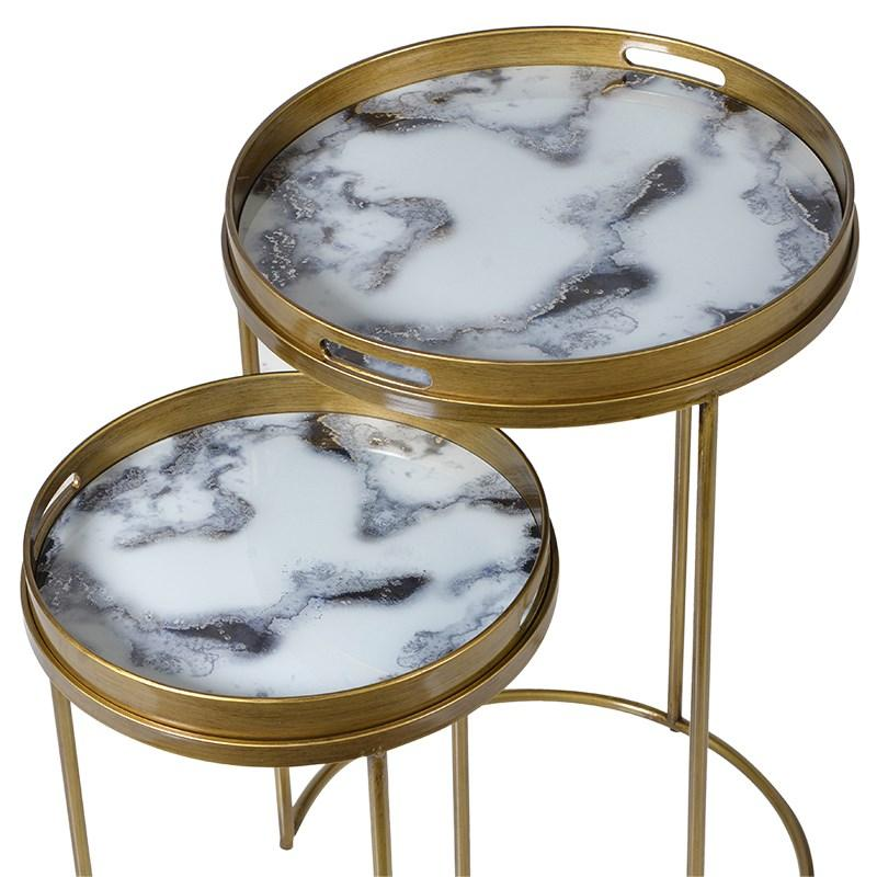 gin gold side tables deco art shu zurleys table