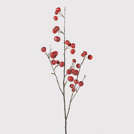 6 x  Artificial Red Crab Apple Branches