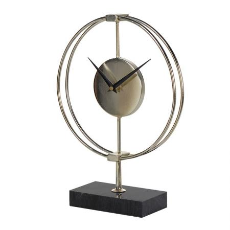Gold Ring Mantel Clock On Stand