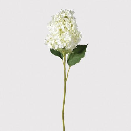 2 x Large Artificial White Mountain Hydrangea Stems
