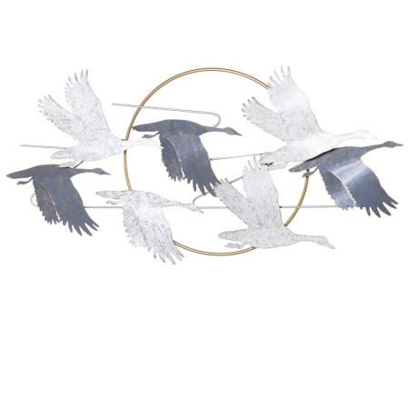 Metal Flying Birds Wall Decoration