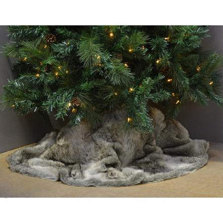 130Cm  Faux Fur Christmas Tree Skirt