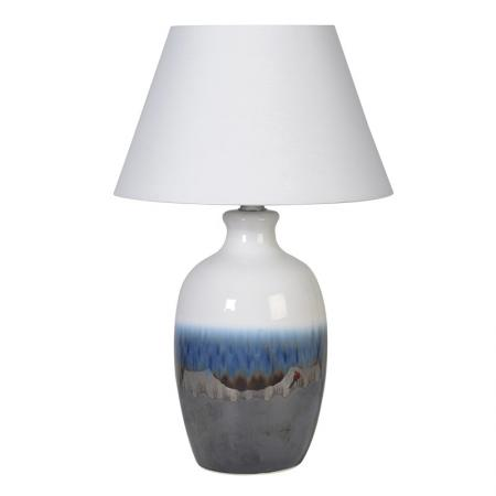Blue Fade Ceramic Lamp With Shade