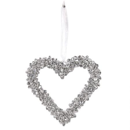2 x Small 'Mini Bells' Heart Decoration