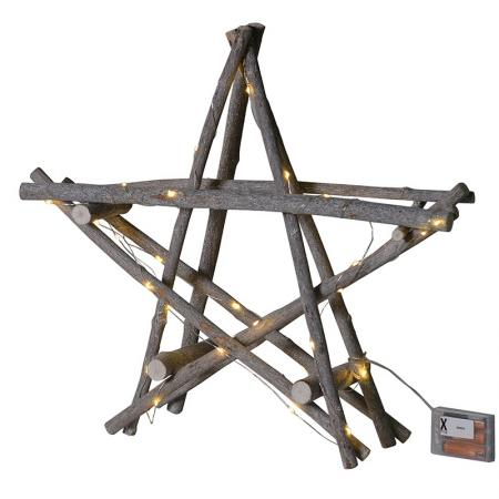 3D Twig Star With Lights