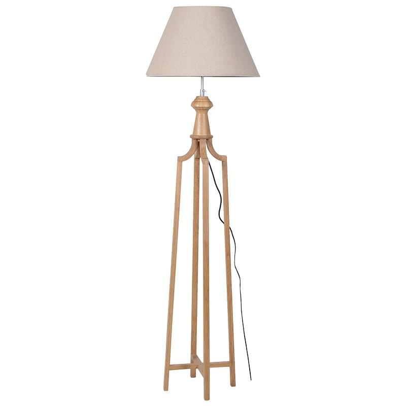 Wood frame tripod floor lamp beige shade mulberry moon for Cheap tripod lamp