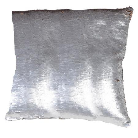 2 x Silver And Gold Mermaid Sequined Cushions