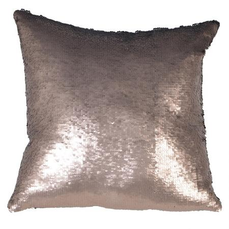 2 x Silver And Black Mermaid Sequined Cushions