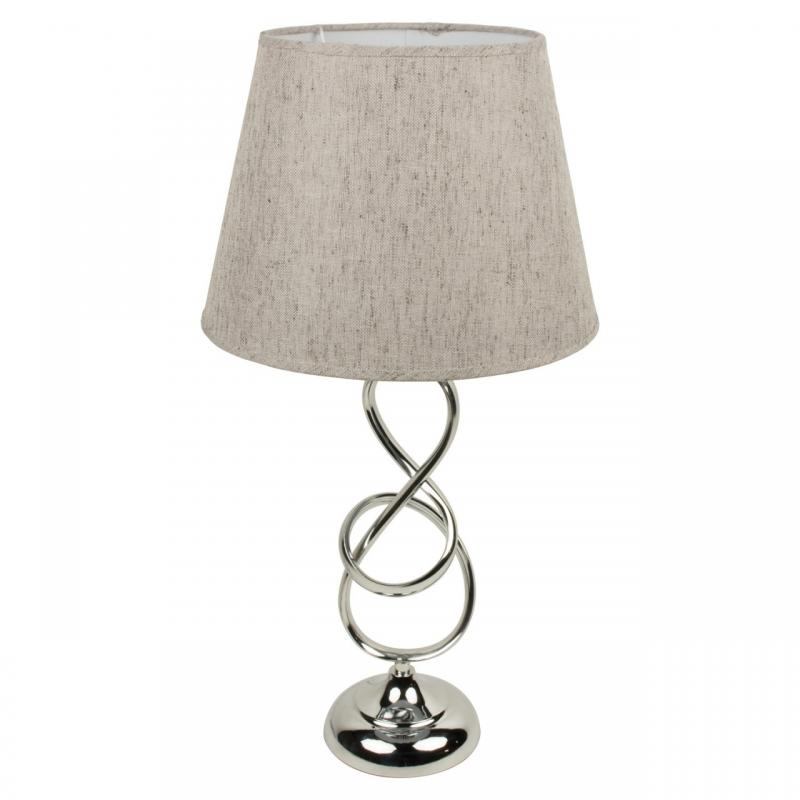 Twisted chrome table lamp with shade mulberry moon twisted chrome table lamp with shade aloadofball Gallery