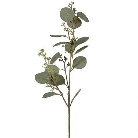12 x Stems of Artificial Eucalyptus Leaves & Seeds