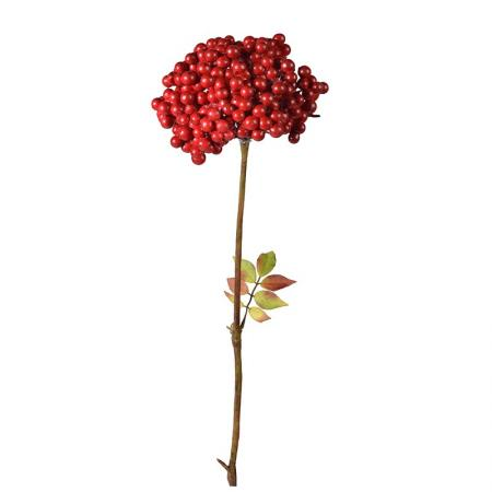 12 x Stems of Artificial Red Rowan Berry Sprays