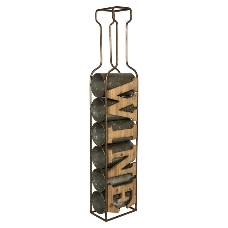 Hanging wood metal bottle wine rack mulberry moon Hanging wooden wine rack