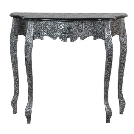 Antique Silver Embossed Small Hall Table