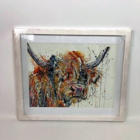 EX-DISPLAY  - Highland Cow Watercolour Art