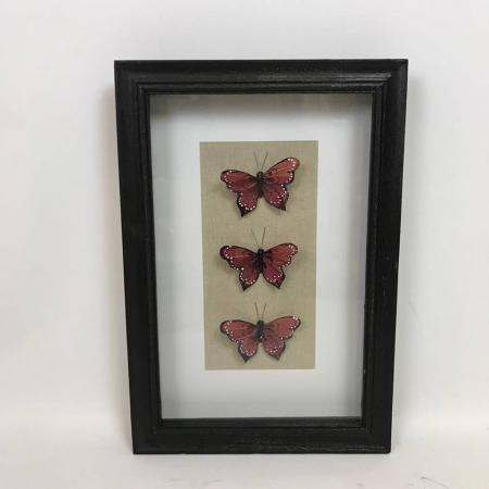 SECONDS - Black Framed Butterfly Wall Art