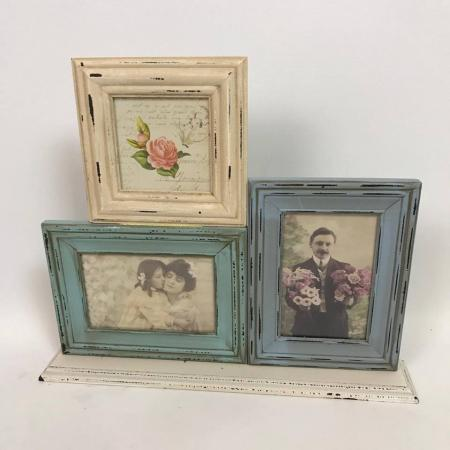 EX-DISPLAY - Triple Shabby Chic Picture Frame