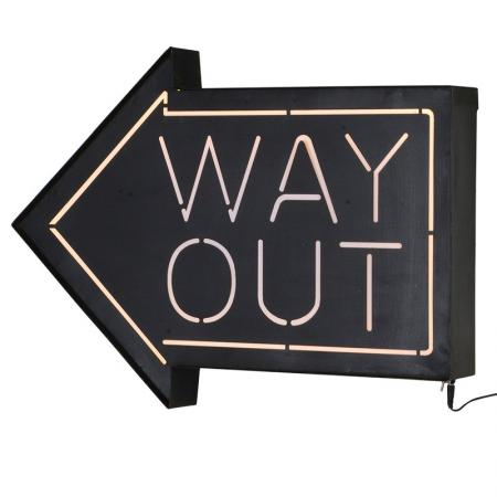 Large Light up 'Way Out' Arrow Sign