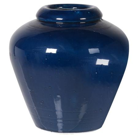 Medium Ceramic Deep Blue Vase